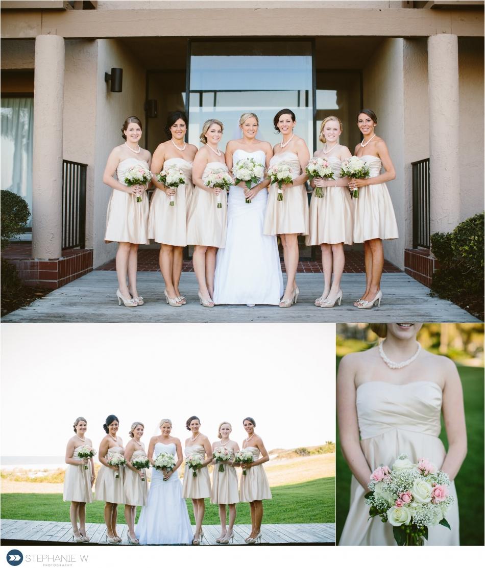 bride and bridesmaids before wedding at walker