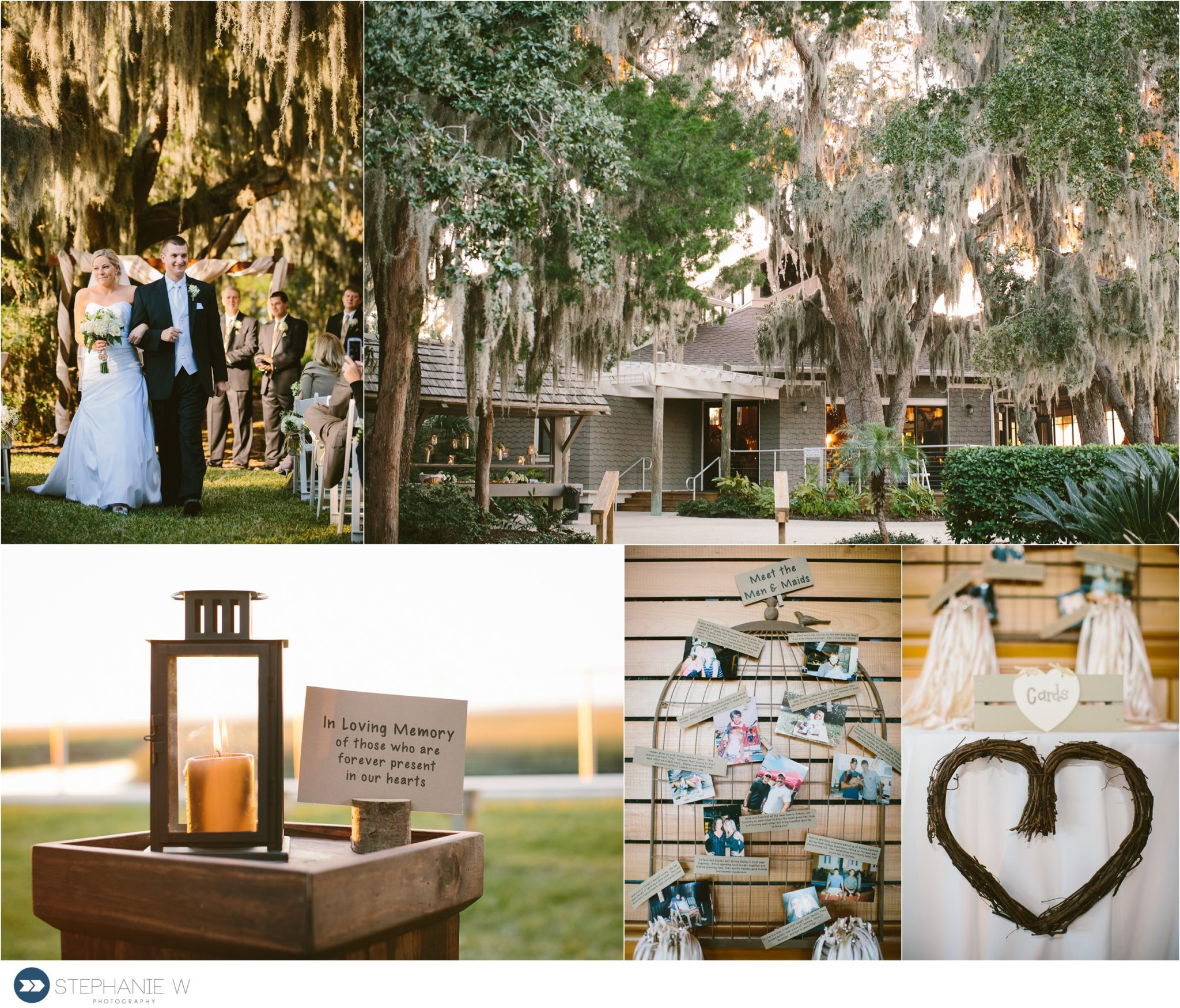 ceremony and details of wedding at walker's landing