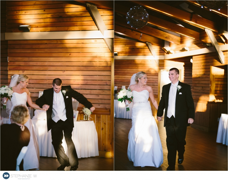 bride and groom walker