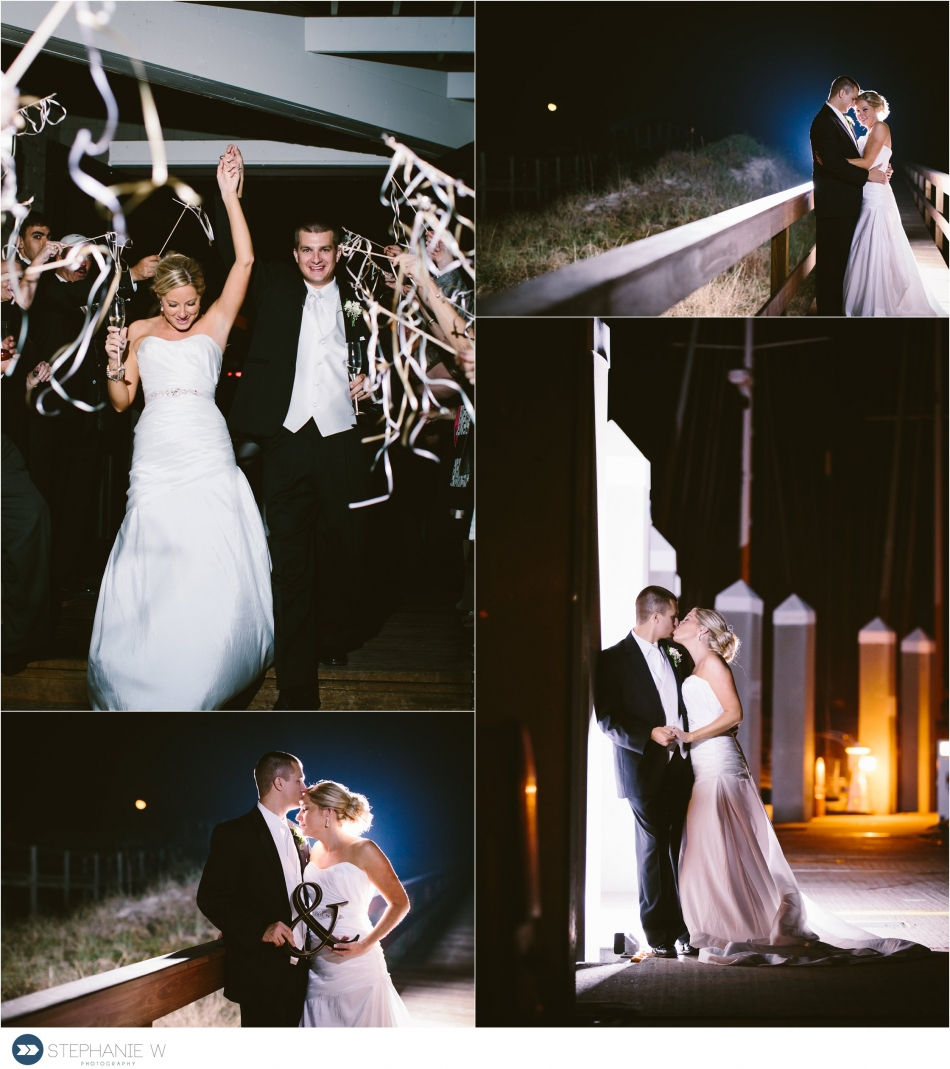 bride and groom night time photography