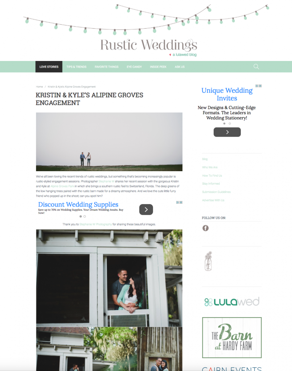Rustic Weddings - Kristin and Kyle esess
