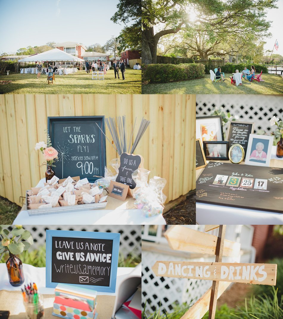 backyard wedding on trout river jacksonville wedding