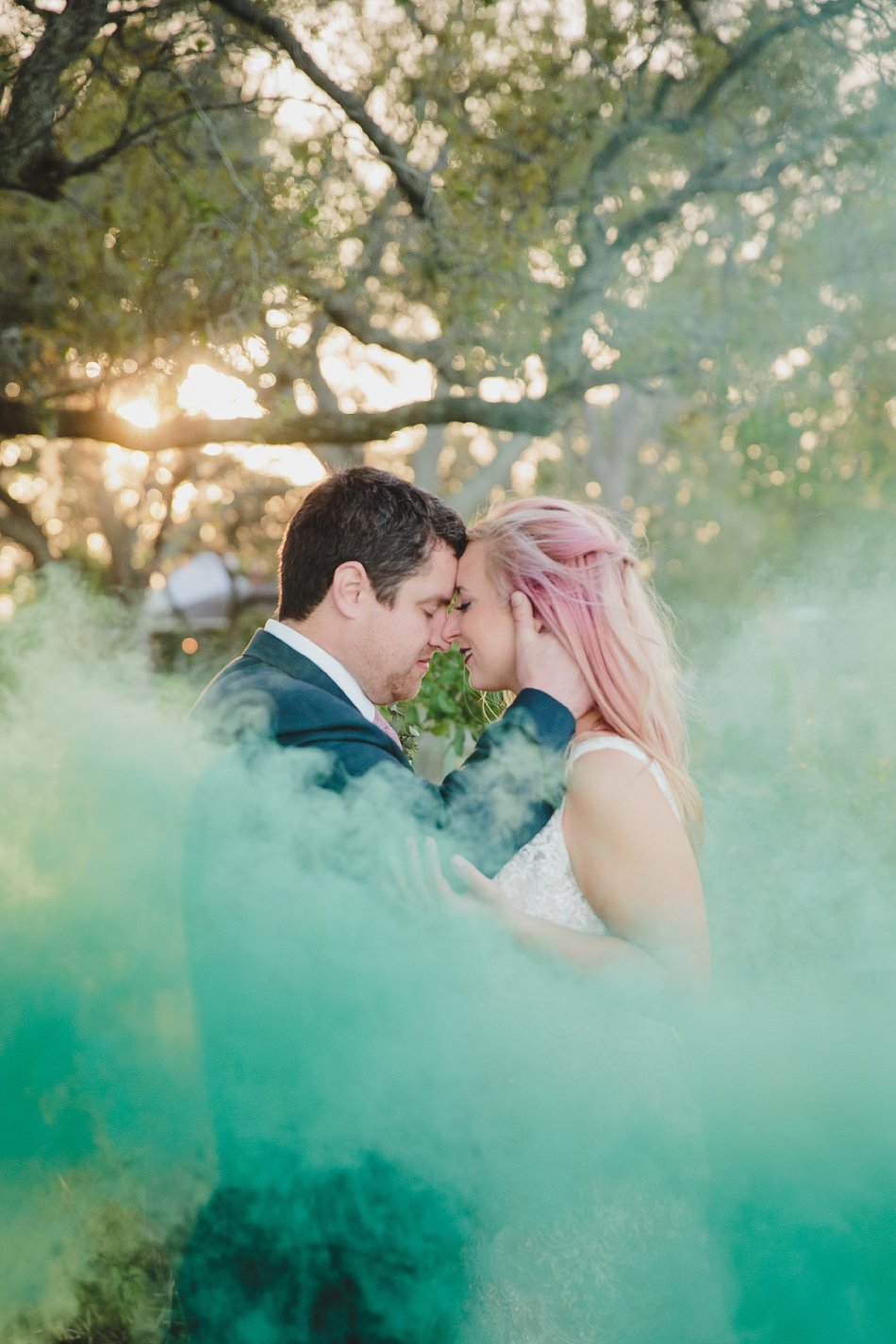 backyard wedding,best burgers,bride,burgers,downtown,first look,food truck,green smoke,jacksonville,pink hair,river,smoke bomb,smoke grenade,stephanie w photography,