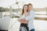 guy hugging girl at marina in st. augustine
