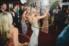 bridge hula hooping on dance floor during wedding reception