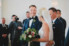 groom seeing bride for first time during ceremony at alter