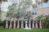 wedding party lined up in st. augustine garden