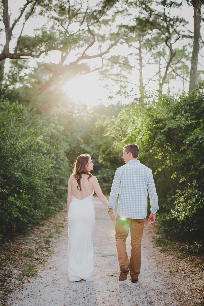 couple walking on path through big talbot island