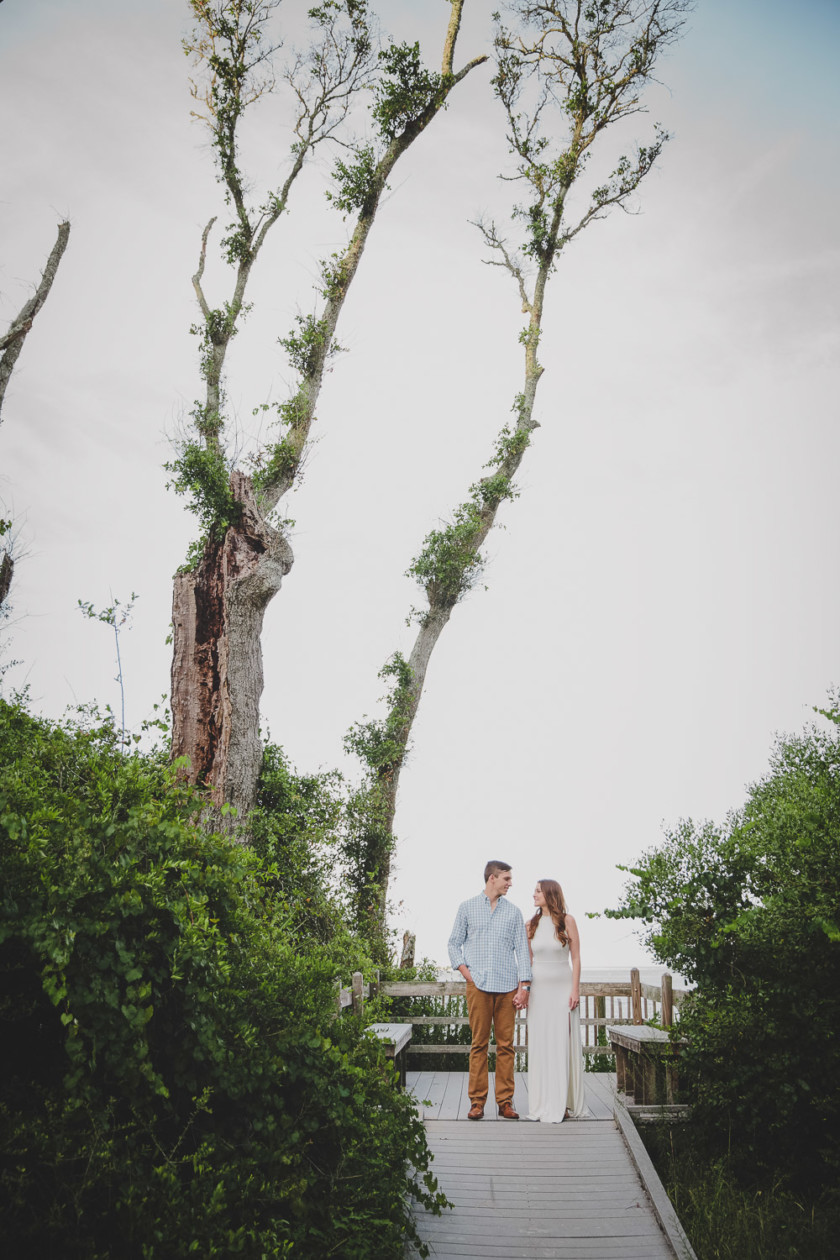 couple at big talbot island in jacksonville