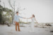 couple dancing at beach