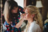 bride getting makeup professional applied