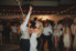 bride and groom dancing at wedding reception at surf club