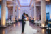 bride and groom slow dancing inside of the treasury on the plaza reception