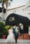 bride and groom walking at driveway to casa marina in jacksonville beach