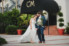 bride and groom standing in front of casa marina hotel in jacksonville beach