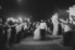bride and groom walking through sparkler exit
