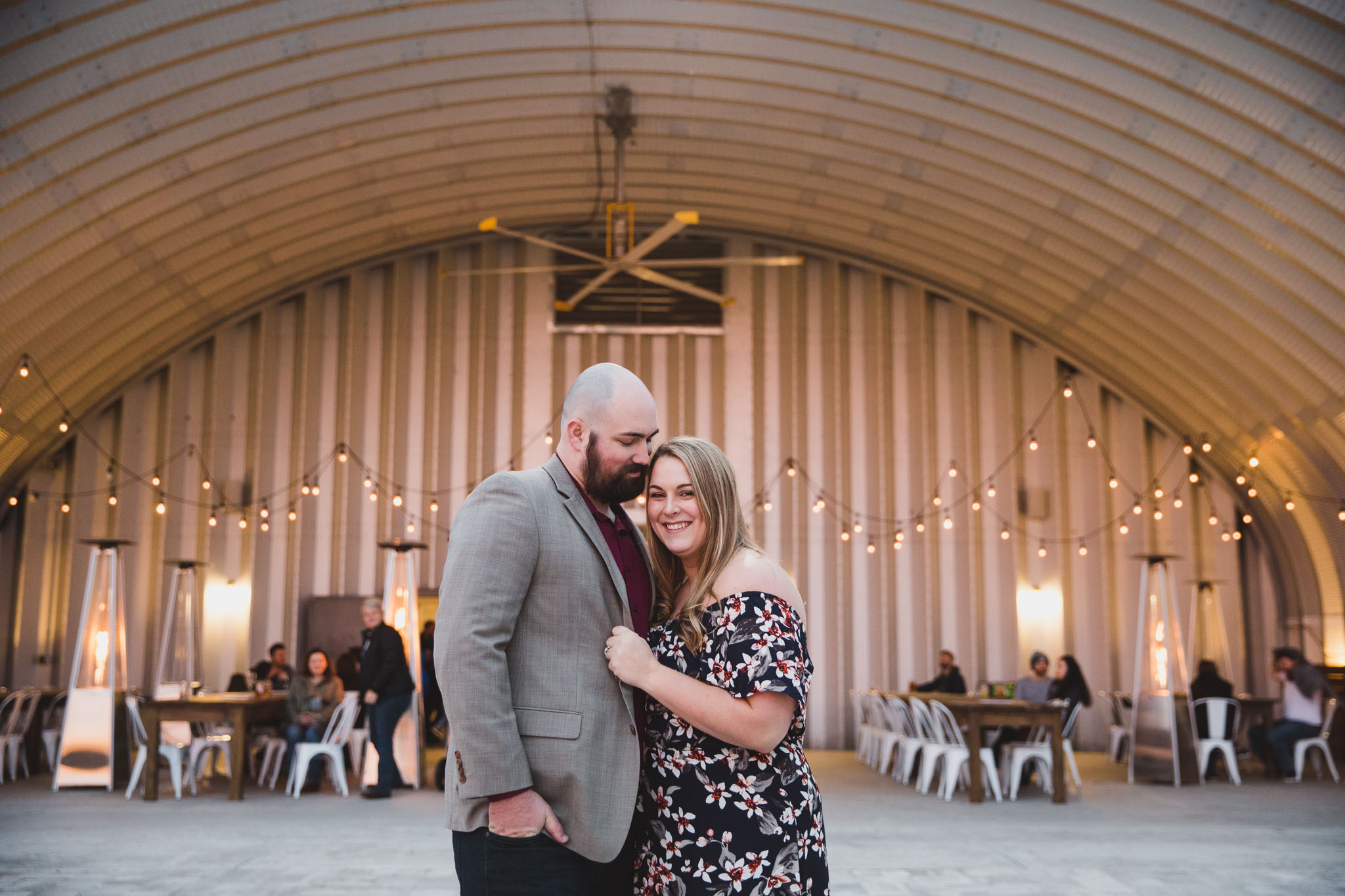 couple at congaree and penn engagement session