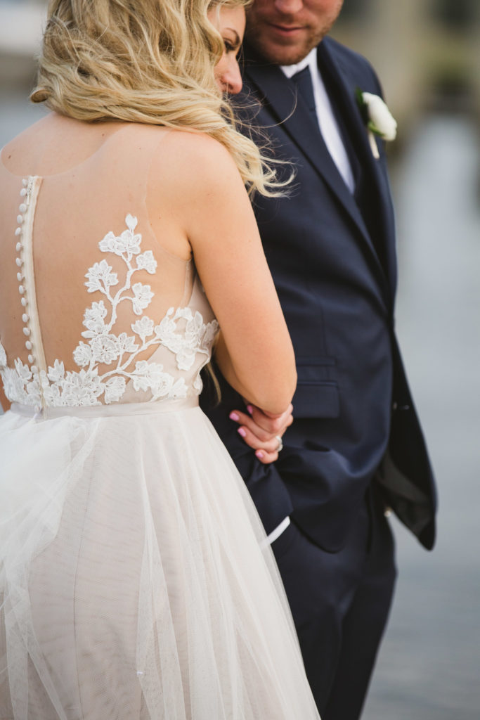 details of wedding gown