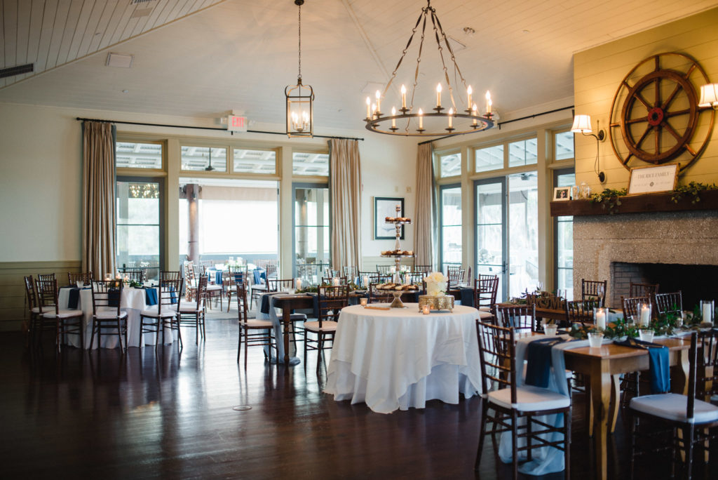 reception space at oyster bay yacht club